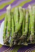 Green asparagus spears