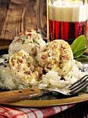 Bacon dumplings with sauerkraut