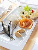 Fish appetiser platter