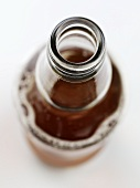 An opened bottle of ale