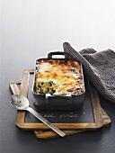 Duck Parmentier in a roasting tin