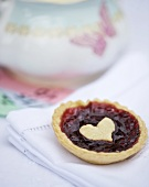 Jam tart with a heart