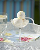 Lemon and vodka sorbet