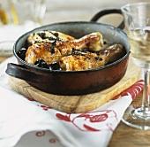 Cosciotti di pollo con le olive (Chicken legs with olives)