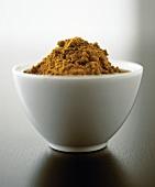 Coffee powder in a bowl