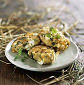 Egg and potato cakes for Easter