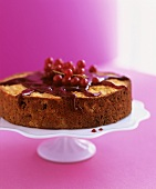 Apple cake with redcurrants