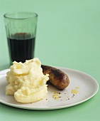 Sausage and mash and a glass of cola