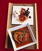 Panzanella e antipasti (Bread soup & appetisers, Italy)