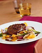 Beefsteak with Sichuan pepper and Asian vegetables