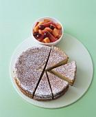 Olivenöl-Sauternes-Kuchen mit Melonen-Traubensalat