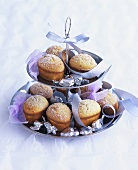 Friands on a tiered stand