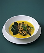 Kale and chick-pea curry