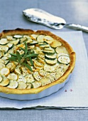 Courgette and goat's cheese tart