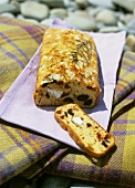 Olive, goat's cheese and dried tomato bread