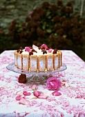 Almond quark charlotte with raspberries
