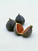 Two whole figs and one halved fig