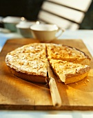 Lemon tart with pine nuts
