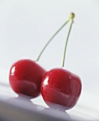 Pair of cherries (close-up)