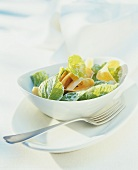 Linden leaf salad with carrots