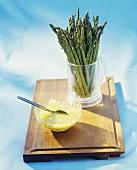 Wild asparagus with Parmesan sauce