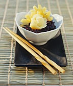 Sweet black rice with pineapple