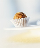 Chocolate truffle rolled in brown sugar