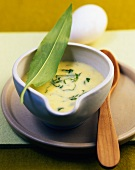 Yoghurt sauce with ramsons (wild garlic)