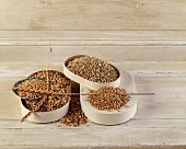 Assorted cereal grains