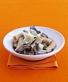 Rigatoni with forest mushroom sauce