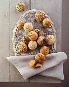 Assorted small spelt rolls