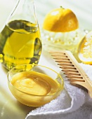 Hair tonic made from honey and egg yolk