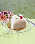 Heart-shaped cake for wedding