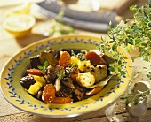 Beef and vegetable ragout with herbs