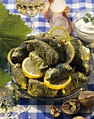 Sarmi (Vine leaves stuffed with rice and raisins, Bulgaria)