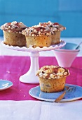 Rhubarb and almond muffins