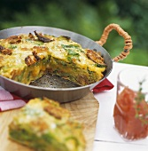 Savoy cabbage frittata with tomato chutney