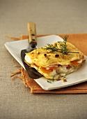 Fish and carrot lasagne