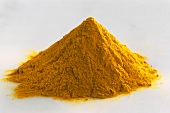 A heap of ground turmeric
