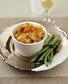 Chicken ragout with pastry crust