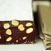 Chocolate, hazelnut and fig slice