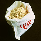 Arborio rice in sack (risotto rice)