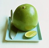 Pomelo and a piece of lime, Thailand