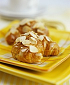 Croissants with honey and almonds