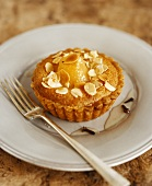Pear and almond tartlet