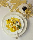 Christmas pineapple and mango salad