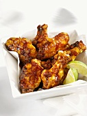 Baked chicken wings with pineapple sauce