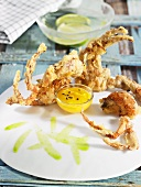 Soft shell crabs in tempura batter (Spain)