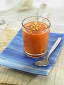 Papaya juice with pistachios