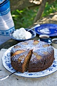 Dried pear and chocolate cake
